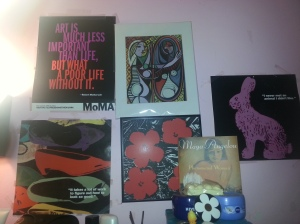 (In order clockwise from the top left) Robert Motherwell's quote again; Also Picasso's
