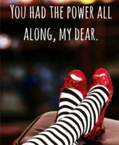You have the power **Screenshot taken with an Android phone. The Gaff Blog does not own this image** Dorothy's red slippers.